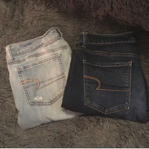 2 Pairs Size 12 Regular American Eagle Jeans